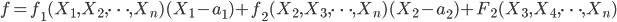 f = f_1(X_1, X_2, \cdots , X_n)(X_1 - a_1) + f_2(X_2, X_3, \cdots , X_n)(X_2 - a_2) + F_2(X_3, X_4, \cdots , X_n)