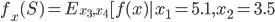 f_x(S ) =  E _ {x_3, x_4}[ f(x) | x_1 = 5.1, x_2 = 3.5