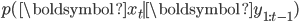 p(\boldsymbol{x}_t \mid \boldsymbol{y}_{1:t-1})