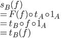 s_B(f) \\ = F(f) \circ t_A \circ 1_A\\ = t_B \circ f \circ 1_A\\ = t_B(f)