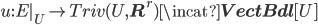 u:E|_U \to Triv(U, {\bf R}^r) \incat {\bf VectBdl}[U]