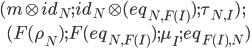 ( m\otimes id_{N}  ;  id_{N}\otimes (eq_{N, F(I)})  ;  \tau_{N,I} )\,; \\ \:\:\:\: ( F(\rho_N)  ;  F(eq_{N, F(I)})  ;  \mu_I  ;  eq_{F(I), N} )