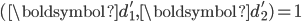 (\boldsymbol{d}_1', \boldsymbol{d}_2') = 1
