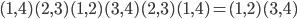 (1,4)(2,3)(1,2)(3,4)(2,3)(1,4) =(1,2)(3,4)