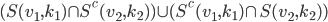 (S(v_1,k_1) \cap S^c(v_2,k_2)) \cup (S^c(v_1,k_1) \cap S(v_2,k_2))