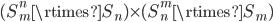 (S_m^n\rtimes S_n)\times(S_n^m\rtimes S_m)