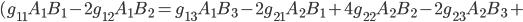 (g_{11}A_1B_1-2g_{12}A_1B_2=g_{13}A_1B_3-2g_{21}A_2B_1+4g_{22}A_2B_2-2g_{23}A_2B_3+