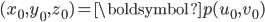 (x_0,y_0,z_0)=\boldsymbol{p}(u_0,v_0)