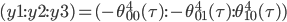 (y1:y2:y3)=(-\theta_{00}^4(\tau):-\theta_{01}^4(\tau):\theta_{10}^4(\tau))