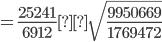 =\frac{25241}{6912}±\sqrt{\frac{9950669}{1769472}}