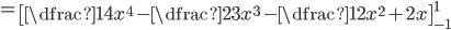=\left[\dfrac{1}{4}x^4-\dfrac{2}{3}x^3-\dfrac{1}{2}x^2+2x \right]_{-1}^1
