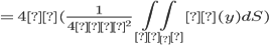 =4π(\frac{1}{4πε^2} \iint_{σ_ε}ρ(y) dS)