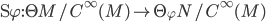 \D \varphi : \T M/C^\infty(M) \to \T_\varphi N/C^\infty(M)