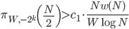\displaystyle  \pi_{W, -2^k}\left(\frac{N}{2}\right) > c_1\cdot \frac{Nw(N)}{W\log N}