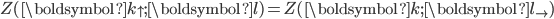 \displaystyle Z(\boldsymbol{k}_{\uparrow};\boldsymbol{l})=Z(\boldsymbol{k};\boldsymbol{l}_{\rightarrow})