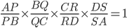 \frac{AP}{PB} \times \frac{BQ}{QC} \times\frac{CR}{RD}\times\frac{DS}{SA} =1