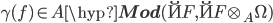 \gamma(f) \in A\hyp{\bf Mod}(\u{F}, \u{F}\otimes_A\Omega)