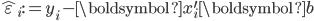 \hat{\varepsilon}_{i}:=y_{i}-\boldsymbol{x}_{i}^{\prime}\boldsymbol{b}