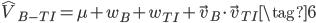 \hat{V}_{B-TI}=\mu + w_B + w_{TI} + \vec{v}_B\cdot\vec{v}_{TI} \tag{6}
