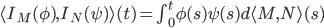 \langle I_M(\phi),I_N(\psi)\rangle(t) = \int^t_0 \phi(s)\psi(s) d\langle M,N\rangle(s)