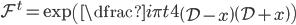 \mathcal{F}^{t}=\exp \left(\dfrac{i\pi t}{4} \left( \mathcal{D}-x\right) \left( \mathcal{D}+x \right) \right)