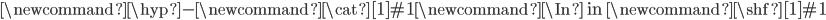 \newcommand{\hyp}{\mbox{-}} \newcommand{\cat}[1]{\mathcal{#1}}\newcommand{\In}{\mbox{ in }}\newcommand{\shf}[1]{\mathcal{#1}}