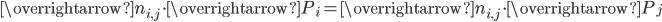 \overrightarrow{n_{i,j}}\cdot \overrightarrow{P_i}=\overrightarrow{n_{i,j}}\cdot \overrightarrow{P_j}