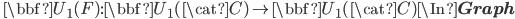 \quad \bbf{U}_1(F): \bbf{U}_1(\cat{C}) \to \bbf{U}_1(\cat{C}) \In {\bf Graph}