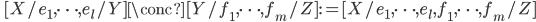 \quad [X/e_1, \cdots, e_l/Y]\conc [Y/f_1, \cdots, f_m/Z] :=  [X/e_1, \cdots, e_l, f_1, \cdots, f_m/Z]