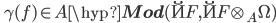 \quad \gamma(f) \in A\hyp{\bf Mod}(\u{F}, \u{F}\otimes_A\Omega)