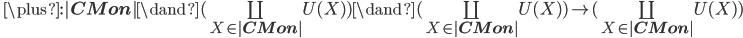 \quad \plus : |{\bf CMon}| \dand (\coprod_{X\in |{\bf CMon}|} U(X)) \dand (\coprod_{X\in |{\bf CMon}|} U(X)) \to (\coprod_{X\in |{\bf CMon}|} U(X))