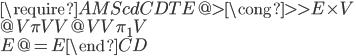 \require{AMScd} \begin{CD} TE @>{\cong}>> E\times V \\ @V{\pi}VV      @VV{\pi_1}V \\ E  @=          E \end{CD}