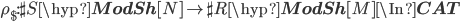 \rho_\$:\sh{S}\hyp{\bf ModSh}[N] \to \sh{R}\hyp{\bf ModSh}[M] \In{\bf CAT}