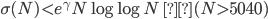 \sigma (N) \lt e^{\gamma} N \log \log N \; (N \gt 5040)