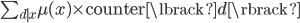 \sum_{d \mid x} \mu(x) \times \text{counter} \lbrack d \rbrack