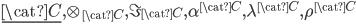 \underline{\cat{C}}, \otimes_{\cat{C}}, \I_{\cat{C}}, \alpha^{\cat{C}}, \lambda^{\cat{C}}, \rho^{\cat{C}}