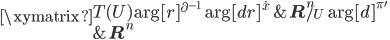 \xymatrix{   {T(U)} \ar[r]^{\partial^{-1}} \ar[dr]^{\dot{x}}    & { {\bf R}^n_{/U} } \ar[d]^{\pi'} \\   {} &  { {\bf R}^n } }