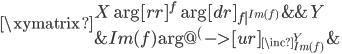 \xymatrix{  {X} \ar[rr]^{f} \ar[dr]_{f|^{Im(f)}}  &{}  &{Y} \  {}  &{Im(f)} \ar@{^{(}->}[ur]_{\inc^Y_{Im(f)}}  &{} }