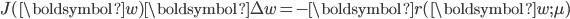 {   \begin{align}   J(\boldsymbol{w}) \boldsymbol{\Delta w} = - \boldsymbol{r} (\boldsymbol{w}; \mu) \end{align} }
