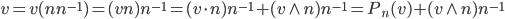 { v=v( nn^{-1} )=( vn )n^{-1}=( v\cdot n )n^{-1}+( v\wedge n )n^{-1}=P_{n}( v )+(v\wedge n )n^{-1} }