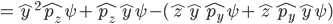{=\hat{y}^2\hat{p_z}\psi+\hat{p_z}\hat{y}\psi-(\hat{z}\hat{y}\hat{p_y}\psi+\hat{z}\hat{p_y}\hat{y}\psi)}