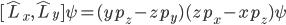{[\hat{L}_x,\hat{L}_y]\psi=(yp_z-zp_y)(zp_x-xp_z)\psi}