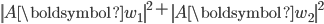 {\displaystyle  \left\| A \boldsymbol{w}_1 \right\|^2 + \left\| A \boldsymbol{w}_2 \right\|^2 }