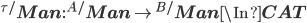 {^{\tau/}{\bf Man}} :  {^{A/}{\bf Man} } \to  {^{B/}{\bf Man}} \In {\bf CAT}