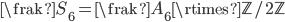 {{\frak S}_6={\frak A}_6\rtimes{\mathbb Z}/2{\mathbb Z}}