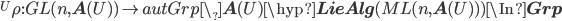 {}^U\rho : GL(n, {\bf A}(U)) \to autGrp\_{\bf A}(U)\hyp{\bf LieAlg}(ML(n, {\bf A}(U)) ) \In {\bf Grp}