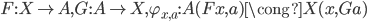 {F: X\to A, G: A\to X, \varphi_{x, a}: A(Fx, a)\cong X(x, Ga)}