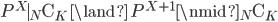 {P^X \mid {}_N \mathrm{C}_K \ \land \ P^{X + 1} \nmid {}_N \mathrm{C}_K}