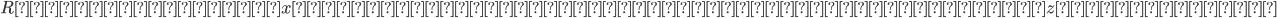 {Rの任意の要素xに対し、上で存在するといわれているzについて、}
