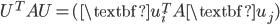 {U^TAU = (\textbf{u}^T_i A \textbf{u}_j)}